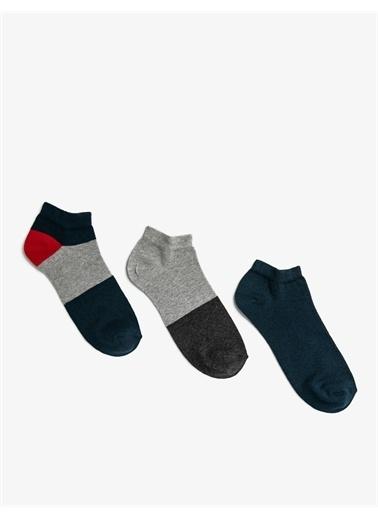 Koton Koton Basic Pamuklu Erkek Çorap Seti Gri